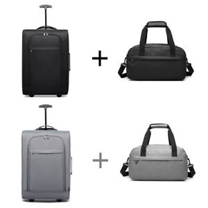 Suitcase Cabin Approved Carry On Hand Luggage Trolley Case Bag