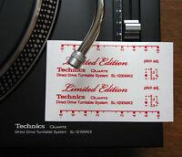 2 x Technics decal sticker SL1200 mk2 LTD LIMITED EDITION - Printed RED