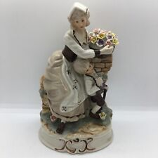 More details for large mother and son countryside figures figurine ornament farm country style
