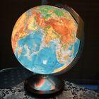 "Vintage Glass COLUMBUS World Globe 13"" GERMAN WRITING LAMP Mid Century Modern"