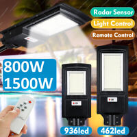 1500W 150000LM 936LED Solar Street Light Motion Sensor Outdoor Yard Wall Lamp