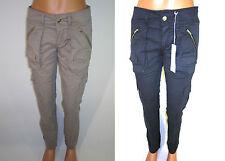 Damenhosen im Cargo -/Militär-Stil mit mittlerer Bundhöhe aus Baumwolle