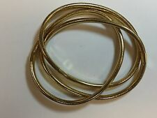 14k yellow gold 7 inch ladies fancy Italian mesh triple bracelet 13.5 grams
