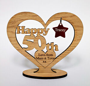Birthday Gift Freestanding Heart for Any Birthday 16th 18th 27th 35th 40th