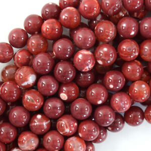 """Red Fire Agate Round Beads Gemstone 15"""" Strand 6mm 8mm 10mm"""