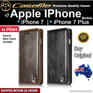 iPhone 7 7 Plus Magnetic Executive Leather Wallet Case Cover for Apple Phones