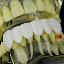 Pure White Teeth Grillz Bottom Teeth Six PC Hip Hop Mouth Grill Pre-Made Grills