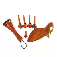 4/4 Violin Kit Rosewood Fittings Violin Tailpiece Chin rest Pegs Endpin Screw
