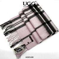 AUSCS-060 AUZLAND UGG Pure Wool Scarf with Fringe Wrap,180CM x 30CM, Soft Fashio
