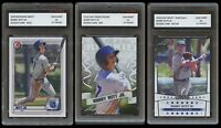 BOBBY WITT JR 2019-2020 BOWMAN/PRIZED/STARS 1ST GRADED 10 ROOKIE CARD LOT ROYALS