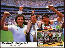 Football Maxicard 1986, Mexico V Bulgaria, Handstamped #C26416