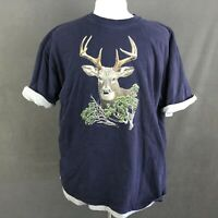Majestic Vintage 90s Double T-Shirt Size XL Buck Deer Hunting Outdoor Graphic