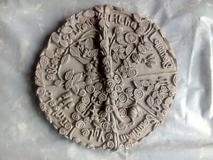 New latex mould,wiccan wheel of the year, 19 cm NO COPYRIGHT !