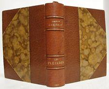 Joseph-Arhur De GOBINEAU :  Les Pléiades, in-8 relié, 1921