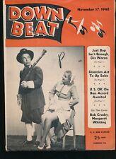DOWN BEAT November 17, 1948 Jazz Magazine BOB CROSBY Margaret Whiting Cover