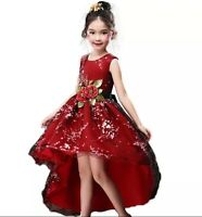 Top Quality Girl's Elegant Floral Princess Wedding/Party/Prom Dress