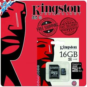 Pack of 3 Kingston Micro SD 16GB SDHC Memory Card TF Mobile Phone Class 4