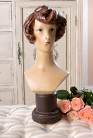 Jewelry Bust Bust Art Deco Girl's Head Antique Woman's Head Shabby Chic