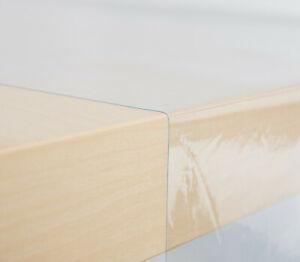 Tischfolie Schutzfolie Tischdecke transparent Glasklar abwasch. Meterware 0,2mm