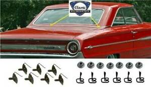 1964 Ford Galaxie Rear Roof Back Belt Molding With Hardware, NEW Reproduction