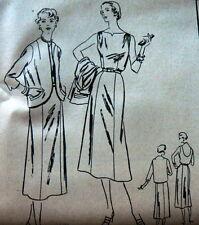 LOVELY VTG 1950s DRESS & JACKET VOGUE Sewing Pattern 18/36 FACTORY FOLDED