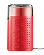 Bodum Bistro Electric Coffee Grinder Stainless Steel Red