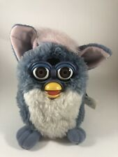 Original Furby 1999 Tiger 70-800 Blue & Pink Brown Eyes New with Tags - Tested