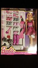 Barbie in Pink Sequin Dress with Accessories Shoes Purses Necklaces [MATTEL]