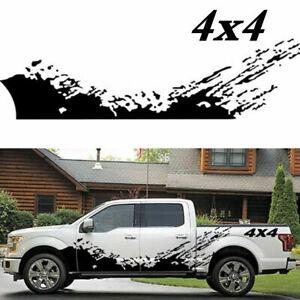 2Pcs Splash Decal Car Side Body Graphics Vinyl Decoration Stickers Truck Pickup