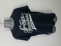 MENS SUPERDRY NAVY BLUE SPELLOUT SHORT SLEEVED CASUAL CREW NECK T SHIRT L LARGE