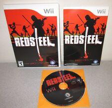RED STEEL Nintendo Wii Swordplay Action Adventure Complete w/Manual Ubisoft