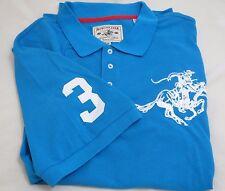 Men's WINCHESTER COLT Logo 3XL Aqua Blue Short Sleeve Polo Golf Shirt