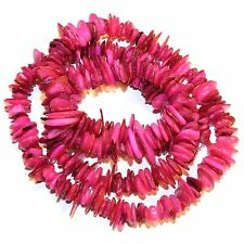 """MP2377p Pink 10mm - 15mm Flat Chip Mother of Pearl Gemstone Shell Beads 30"""""""