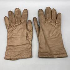 Marrón Antiguo Cuero Natural Mujer Gloves.size 7