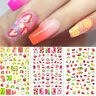 3D Nail Stickers Lovely Summer Fruit Transfer Decals Nail Art Decorations DIY