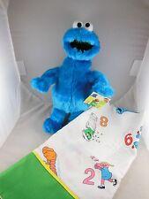 "Cookie Monster Plush 12"" Mwt plus New Custom Made Pillow Case Oak Sesame Street"
