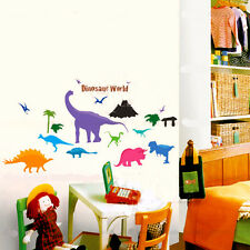 Dinosaurs World Wall Art Stickers Removable Kids Nursery Room Decal Home Decor