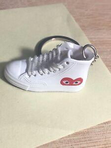 New Mini 3D CONVERSE Comme Des Garcons Chuck Taylor sneaker shoe keychain white