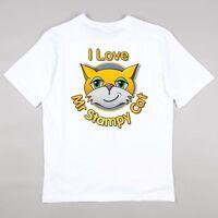 I Love Mr Stampy Cat Stampylongnose T-shirt Girls Boys Gaming  Age 5 - 14 years