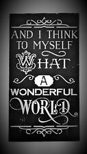 Louis Armstrong What A Wonderful World Sign Decoration Mother Graduation Gift