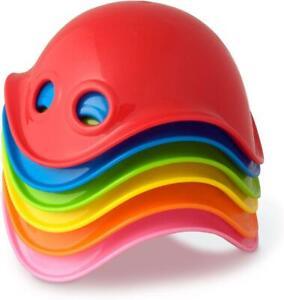 MOLUK 6 Multicoloured Mini Bilibos Baby Bath Toys