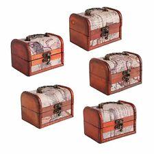1PCS Wooden Pirate Jewellery Storage Box Case Holder Vintage Treasure Chest