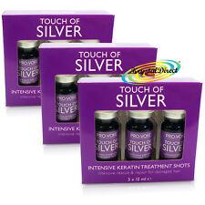 3x Touch of Silver Intensivo Tratamiento de Queratina disparos intensivos de rescate & Reparación