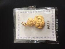 Monkey Pendant 24 karat gold