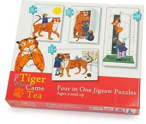 University Games TIGER WHO CAME TO TEA 4IN1 PUZZLE Kids Toy Puzzle BNIP