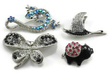 Fancy Austrian Crystal Brooch Pin Wholesale Lot of 4 Pieces of