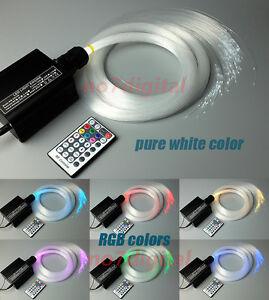 16W RGB LED plastic Fiber Optic Star Ceiling light Kit 200strand 0.75mm 2m cable