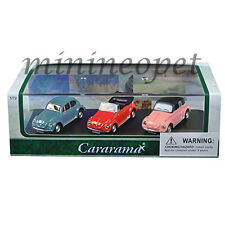 CARARAMA 71309 VOLKSWAGEN BEETLE with DISPLAY CASE 1/72 BLUE RED PINK 3 CARS SET