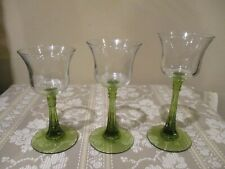 "Partylite ""Radiant Glow"" Wine Glass Style Tea Light Candle Holders (3pcs)"