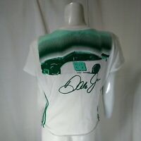 DALE EARNHARDT JR #88 ADIDAS T-SHIRT WOMANS LOW CUT SIZE L NASCAR RACING GREEN